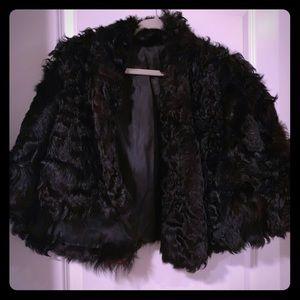 Vintage black fur shawl 😍